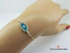 Your place to buy and sell all things handmade Evil Eye Bracelet, Silver Bracelets, Etsy Seller, Etsy Shop, Group, Trending Outfits, Unique Jewelry, Board, Handmade Gifts