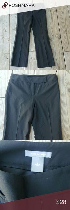 "Ann Taylor virgin wool pants Black, Virgin wool, lined, size 2, inseam 30"" Ann Taylor Pants Trousers"