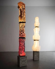 Unique Assemblage Column in Handblown Glass by Thaddeus Wolfe, 2015 For Sale at 1stdibs