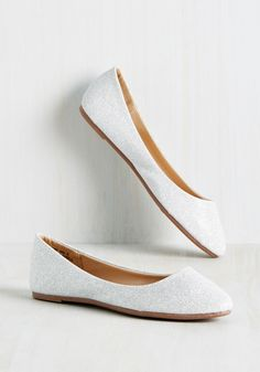 Pop of Pep Flat in Silver Sparkles, @ModCloth