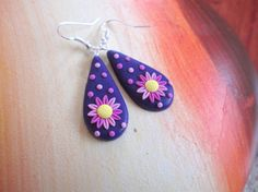 flower earrings polymer clay filigree spring gift for her birthday unique by FloralFantasyDreams on Etsy Flower Jewelry, Flower Earrings, Vintage Style, Vintage Inspired, Jewelry Gifts, Unique Jewelry, Handmade Jewelry Designs, Personalized Jewelry, Filigree