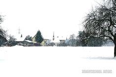 Schnee- und Frost-Impressionen, Weiler mit Kapelle, Small Village with Chapel