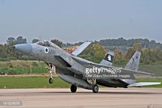 israel f-15a | Stock Photo : An F-15A Baz of the Israeli Air Force landing at Tel-Nof ...