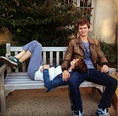 Hazel and Augustus ll Shailene Woodley and Ansel Elgort