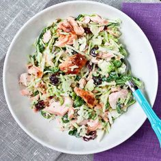 Salmon and Sweet Kale Salad