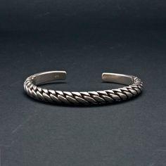 Silver Braided Bracelet Sterling Silver Bracelet by SunSanJewelry