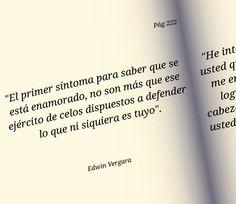 〽️ El primer síntoma para saber que estas enamorado... Edwin Vergara