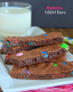 Nutella MM Bars - these easy bars are so soft!