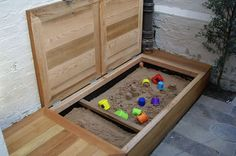 fun storage bench for kids, Creative DIY Storage Benches, http://hative.com/creative-diy-storage-benches/, #sand #playhouse