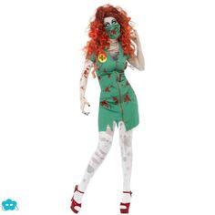 Disfraz de enfermera de quirófano zombie para mujer