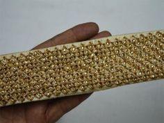 Beige and Gold Fancy trims For Dresses