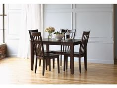 Arts & Crafts Chocolate Finish 5-PC Dining Set - Value City Furniture; $300