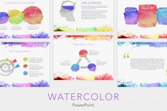 Ad: Watercolor PowerPoint Template by Jumsoft on off for a limited time! The Watercolor template offers a professional look for your unique MS PowerPoint slideshows. It includes 20 Powerpoint For Mac, Professional Powerpoint Templates, Microsoft Powerpoint, Creative Powerpoint, Presentation Design Template, Powerpoint Presentation Templates, Keynote Template, Design Templates, Power Points