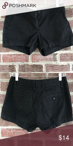 Black chino shorts Black j crew chino canvas shorts; 3in inseam J. Crew Shorts