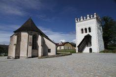 Slovakia, Strážky - St. Anne's church and bell tower