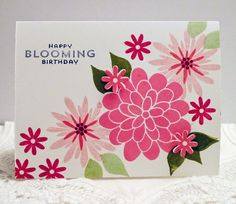 Pretty in Pink card with the Flower Patch stamp set from Stampin' Up!