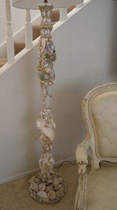 Antique Floor Lamp Inspired: Grotto Shell Art