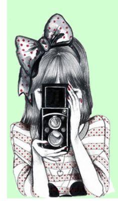 Chica haciendo fotos #fondos