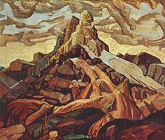 Arthur Lismer - Cathedral Mountain, 1928, oil on canvas, 122.0 x 142.5 cm. Collection of the Montreal Museum of Fine Arts