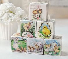 Shabby Chic Vintage Easter Decorative