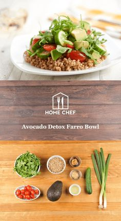 Avocado Detox Farro Bowl