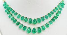 128.72 Ct Fine Natural Emerald Columbian Drops Necklace UnTreated Loose Gemstone - RareGem.IN - 1