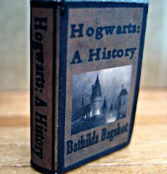 Hogwarts A History book from Harry Potter in by LittleWooStudio, $24.95