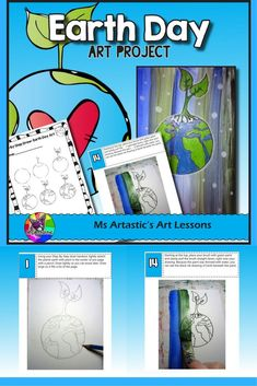 Students will use their imagination to create an Earth Day art piece using paint and pencil crayon. Your students can learn appreciation of our Earth through creating art. This product is complete with a visual and text step-by-step (each step on its own