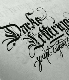 Blackletter with a decorative touch and brush script too!
