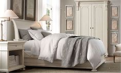 This is some of the furniture we got but in Antiqued coffee.... The St. James collection from restoration hardware. The bed we got has the regular style headboard and footboard not a sleigh style.... Can't wait for my armoire!!