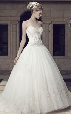 tulle sweetheart natural waist low back wedding dress