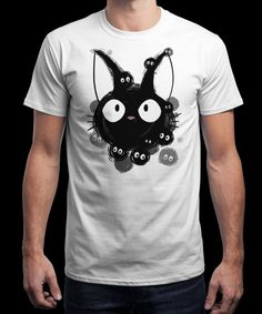 """Susuwatari cat"" is today's £9/€11/$12 tee for 24 hours only on www.Qwertee.com Pin this for a chance to win a FREE TEE this weekend. Follow us on pinterest.com/qwertee for a second! Thanks:)"