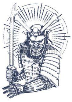 samurai warrior - Buy this stock vector and explore similar vectors at Adobe Stock Samurai Drawing, Warrior Drawing, Samurai Artwork, Japanese Oni, Japanese Warrior, For Honor Samurai, Samurai Poses, Samourai Tattoo, Samurai Concept