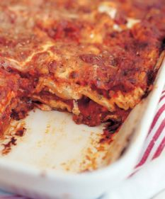 Barefoot Contessa: lasagna with turkey sausage