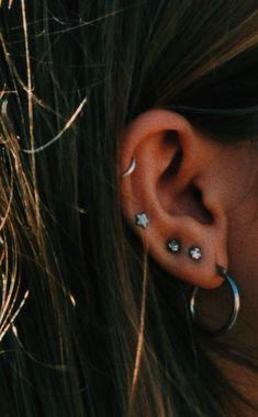 No Piercing Ear Cuff-Silver Cubic Zirconia Ear Sterling Silver-non-piercing-wrap earrings-huggie earrings - Custom Jewelry Ideas Ear Peircings, Cute Ear Piercings, Smiley Piercing, Moon Earrings, Crystal Earrings, Birthday Gifts For Women, Simple Earrings, Piercing Tattoo, Cute Jewelry