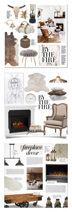 """""""Winners for By the Fire: Winter Fireplace"""" by polyvore ❤ liked on Polyvore featuring interior, interiors, interior design, home, home decor, interior decorating, Vagabond House, Loloi Rugs, Jayson Home and M&Co"""