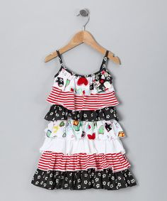Take a look at this Crayon Heart Tiered Ruffle Dress - Toddler & Girls by Baby Nay on #zulily today!