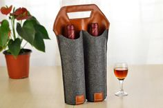 Wine Carrier  Wine Bags Totes  Wine Tote  Custom by AutumnStore