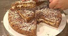 """La ricetta della torta briciole raccolte con ricotta e banane di Fabio Campoli, proposta all'interno del programma condotto da Davide Mengacci, """"Ricette all'italiana""""."""