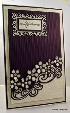 John Next Door - Camilla Open & Full Petals, Gemini Lyra Die, Dainty Rectangular Frame Creative Expressions Pinpoint Embossing Folder Sue Wilson, Spellbinders Cards, Marianne Design, Pretty Cards, Card Sketches, Creative Cards, Flower Cards, Scrapbook Cards, Homemade Cards