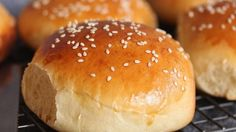 These hamburger buns are so easy to make and turn out light and fluffy. A quick brush with an egg wash before baking gives them a beautiful golden brown color.