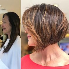 9 Hair Stylist's Tips for Looking Younger Graded Balayage Bob For Older Women Sure, the bushy perms Short Hairstyles For Thick Hair, Permed Hairstyles, Older Women Hairstyles, Short Hair Cuts, Short Hair Styles, Bob Balayage, Hair Color Balayage, Hair Highlights, Hair Stylist Tips