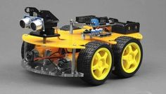 Build your own four-wheeled Arduino robot with this easy to build kit. (Photo credit: Nitro Planes.)