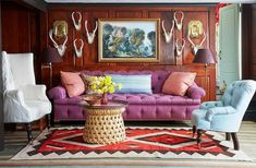 You don't want to miss this fabulous country home of designer extraordinaire Jeffrey Bilhuber . As you see each character filled room