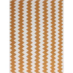 Sonora Orange Flat-weave Chevron Rug (3' x 5')