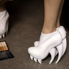 """""""Fang"""" by Iris van Herpen for United Nude... definitely the fiercest shoes I've ever seen."""