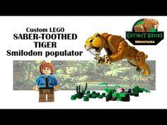 #LEGODinosaurs #LEGO #Jurassic LEGO Compatible Custom Saber-toothed Tiger Megafauna - YouTube Lego Dino, Lego Jurassic World, Artwork For Home, Lego House, Lego Projects, Custom Lego, Lego Stuff, Legos, Cinema