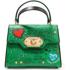 26b745d229dd Dolce   Gabbana Welcome small printed leather tote