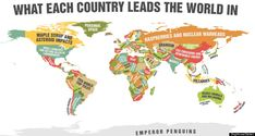 What Each Country Is Best At. Fun for the geography classroom!