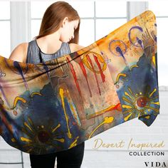 Shop scarves, bags, tops and more - inspired by the desert. Each VIDA piece features original designs from one of our global community of artists and is custom made to order for you. Every purchase gives the gift of education.